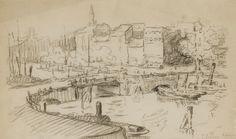 Paul Signac, Rotterdam on ArtStack Rotterdam, Paul Signac, Georges Seurat, Impressionist, Vintage World Maps, France, Drawings, Artist, Artwork