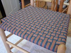 Checkerboard in Shaker Flame Weaving, Patterns, Chair, Home Decor, Block Prints, Pattern, Stool, Interior Design, Loom Weaving