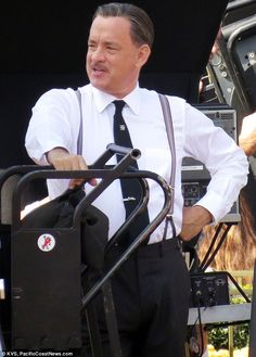 Tom Hanks as Walt Disney on the set of Saving Mr. Banks.  Why on earth was I not aware of This? First The Great Gatsby and now This! What a wonderful year for movies!