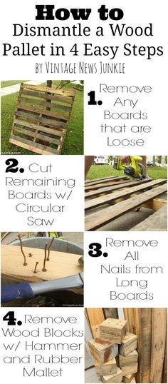 How to Dismantle a Wood Pallet by Vintage News Junkie