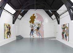 """Ella Kruglyanskaya How to work together"""", Studio Voltaire, London, Installation view (2014)"""