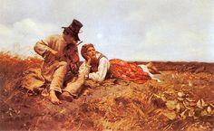 Józef Chełmoński...............Sielanka (Przed burzą) 1885. Olej na płótnie. 71 x 117 cm.  The Bowers Museum, Santa Ana (Kalifornia), USA.
