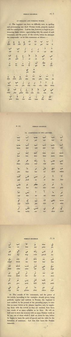 A grammar of the Persian language. To which are subjoined several dialogues; with an alphabetical list of the English and Persian terms of grammar, and an appendix on the use of Arabic words
