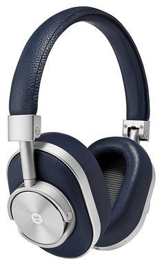 Shop Master & Dynamic Premium High Definition Bluetooth Wireless Over-Ear Headphone - Navy/Silver. Free delivery and returns on eligible orders. Noise Cancelling Headphones, Bluetooth Headphones, Beats Headphones, Over Ear Headphones, Lambskin Leather, Just In Case, Accessories, Gift Guide, The Last Song