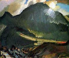 'Moonlight Beddgelert' ~ David Bomberg, 1890-1957