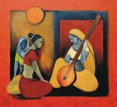 Music pop art projects 28 Ideas for 2019 Canvas Art Projects, Easy Canvas Art, Krishna Painting, Krishna Art, Krishna Temple, Indian Folk Art, Indian Artist, Indian Contemporary Art, Modern Art