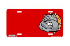 "Airstrike® 459-""Bulldog on Red""-BulldogLicense Plates"