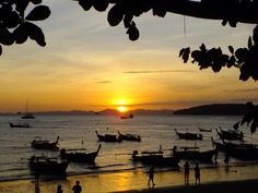 5 things to do in Ao Nang by Paul and Carole Love to Travel - Destination Asia Ao Nang Krabi, Ao Nang Beach, Stuff To Do, Things To Do, Thailand Adventure, Railay Beach, Visit Thailand, Cities In Europe, Amazing Sunsets