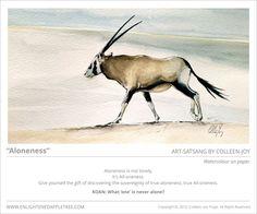 ART SATSANG: Aloneness, Watercolour by Colleen-Joy