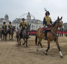 Kings Troop the Royal Horse Artillery during the Major Generals Review at Horseguards in London.
