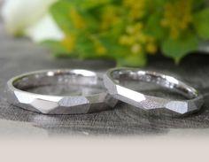 ホワイトゴールドの結婚指輪(オーダーメイド/手作り) [marriage,wedding,bridal,ring,gold,K18WG,マリッジリング,オーダーメイド,ith]