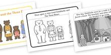 Goldilocks and the Three Bears Sequencing (4 per A4) - Goldilocks, sequencing, traditional tales, tale, fairy tale, three bears, porridge, cottage, beds,