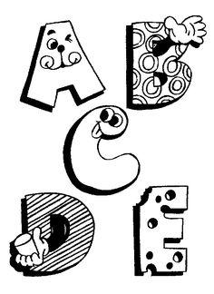 Letras para Colorear e Imprimir | Dibujos Online
