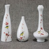 Traditional Chinese Vases Flower Ceramics New Arrival Time-limited Tabletop Vase Small Hand-painted Kingfisher Gift Ornaments