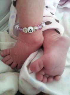 Newborn Size Twin Girls ID Bracelets