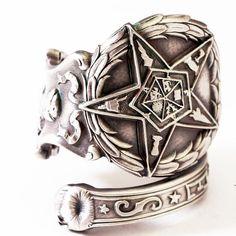 Spoon Ring Order of the Eastern Star Masonic Freemason by Spoonier, $63.00