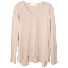 Wilt Long Sleeve Slouchy Boyfriend Tee in Blossom ($112) ❤ liked on Polyvore featuring tops, t-shirts, sweaters, long sleeve cotton t shirts, cotton tees, long sleeve t shirts, cotton v neck t shirts and boyfriend v neck tee