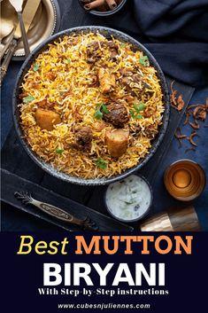 Best Mutton Biryani Recipe, Lamb Biryani Recipes, Lamb Recipes, Veg Recipes, Curry Recipes, Indian Food Recipes, Asian Recipes, Cooking Recipes, Healthy Recipes