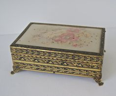 Items similar to Vintage Sewing Box on Etsy Vintage Sewing Box, Craft Accessories, Oil Lamps, Decorative Boxes, Unique Jewelry, Handmade Gifts, Crafts, Etsy, Home Decor