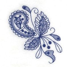 Fall Bluework Toile 5 - 4x4 | What's New | Machine Embroidery Designs | SWAKembroidery.com Starbird Stock Designs