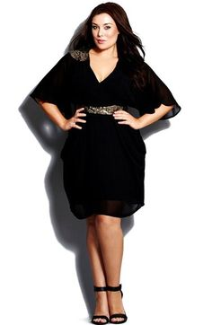 City Chic Sequin Wrap Dress (Plus Size) available at #Nordstrom