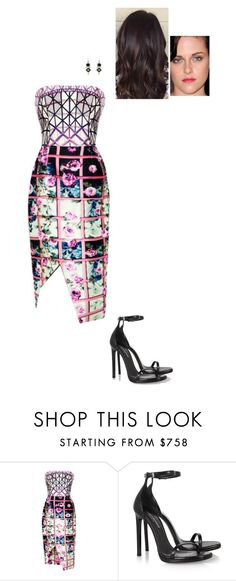 """""""Sem título #5585"""" by gracebeckett ❤ liked on Polyvore featuring Mary Katrantzou, Yves Saint Laurent and Finesse"""