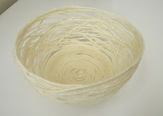 yarn bowl with flour glue