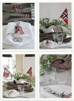 🇳🇴Postsekk som pynt på 17. mai bordet 👍,Norway 🇳🇴 What Is Patriotism, Norway National Day, Norway Food, Norwegian Flag, Constitution Day, Time To Celebrate, Nordic Style, 4th Of July, Fest