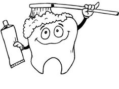Dental Coloring Pages for Kids Dental Health Month, School Health, Preschool Coloring Pages, Coloring Pages For Kids, Star Behavior Charts, Healthy Food Activities For Preschool, Hippo Crafts, Hello Kitty Colouring Pages, Kindergarten Colors
