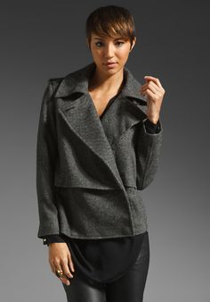 8d5e1bd7f14 BY MALENE BIRGER Febiola Tweed Jacket Anne Sofie Madsen, Danish Fashion,  Satin Jackets,