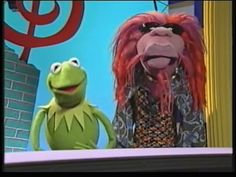Kermit the frog and Clifford