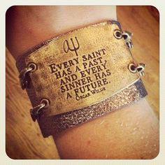 Quote by Oscar Wilde. I love this bracelet.