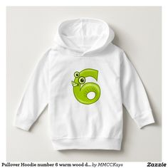 Pullover Hoodie number 6 warm wood design http://www.zazzle.com/mmcckays