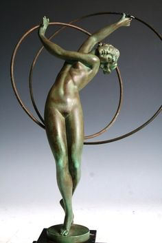 French Art Deco figure of a Woman. Cast in white metal with Bronze patina, circa 1925.<BR>Attributed to Pierre Le Faguay; French, b.1892. Clear foundry mark on base of the foundry where this piece was cast - Max Le Verrier. <BR>Max Le Verrier was the best friend of Pierre Le Faguay. Most of his pieces were cast by this foundry. <BR>As often the case, this piece is not signed by Pierre Fagay. In addition to not signing his work, he sometimes used the pseudonyms Fayal of Guerbe.<BR>This…