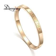 >> Click to Buy << DUOYING Custom Name Copper Bangle Bracelet Personalized Initial Engraved Name Bracelet & Bangle For Lovers Etsy supplier #Affiliate
