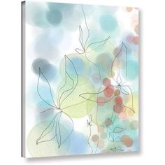 ArtWall Jan Weiss Liquid Floral I Gallery-wrapped Canvas Art, Size: 18 x 24, White