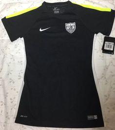 d1e9b5d1a New Nike USA Squad Training Jersey XS Dri Fit Top Black MSRP  55.00