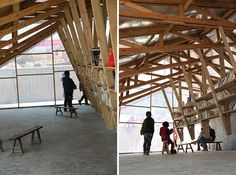 compound curve roofs   the pinch: library and community center' by olivier ottevaere and ...