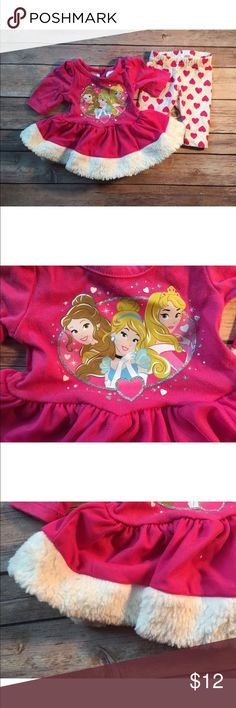Disney Baby Girl Newborn 2 Piece Princess Outfit In excellent condition no stains rips or holes. Disney Matching Sets