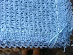 Crochet baby boy blue blanket w/ribbon · Classy Gal · Online Store Powered by StorenvySoft and Cozy Baby Afghan in Baby Pink PinkNana's Baby Creations by jesjaymat Crochet Baby Blanket Free Pattern, Easy Crochet Blanket, Baby Afghan Crochet, Baby Girl Crochet, Baby Afghans, Crochet For Boys, Crochet Patterns, Pink Baby Blanket, Baby Boy Blankets