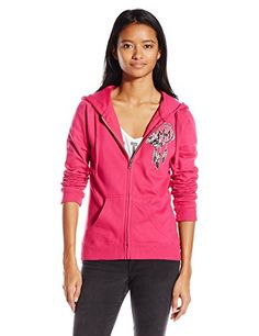 752c095a3f6 Metal Mulisha Juniors Soar Zip Fleece Sweatshirt Hot Pink Medium    Visit  the image link