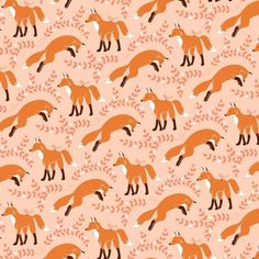 MICHAEL MILLER  SOCKS THE FOX  Coral Fabric by the half yard PS5794