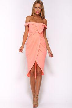 HelloMolly   Take It Easy Maxi Dress Neon Pink