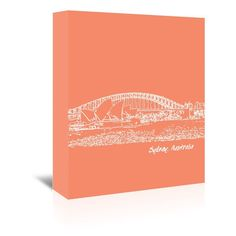 "East Urban Home Skyline Sydney 8 Graphic Art on Wrapped Canvas in Orange Size: 20"" H x 16"" W x 1.5"" D"