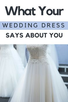 d4c117ba923 Find out what your wedding dress says about you on SHEFinds.com.  wedding