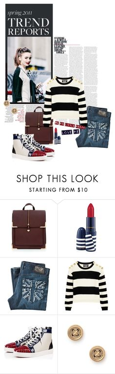 """""""Will you love me if I wear your shoes?"""" by style-grid ❤ liked on Polyvore featuring Olsen, MAC Cosmetics, John Richmond and Boutique Moschino"""