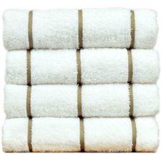 Chakir Linen Striped Turkish Cotton Towel Set (Set of 2), Brown
