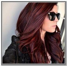 Dark Brown Hair With Reddish Purple Highlights Dark brown hair colors