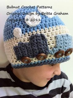 The Original Crochet Train Hat Pattern Crochet by bubnutPatterns