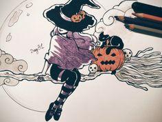 Inktober Day 31 happy Halloween! 🎃